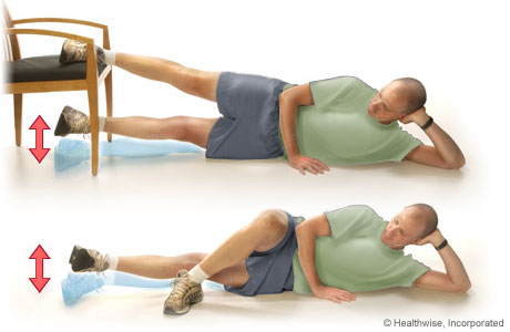 Picture of inner thigh lift exercise (lying on the side)