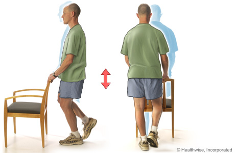 Picture of hip strengthening exercise