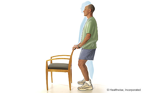 Picture of 30-degree knee bend position (standing)