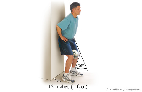 Picture of isometric exercise for the inner part of the quadriceps muscle group