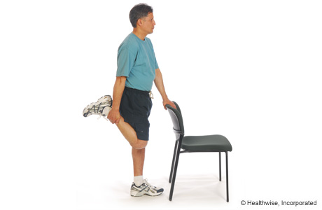 Picture of quadriceps stretch (standing)