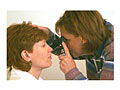 Photo of a direct ophthalmoscopic examination