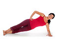 Picture of how to do the intermediate side plank exercise