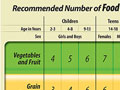 Image of recommended Canadian Food Guide Servings
